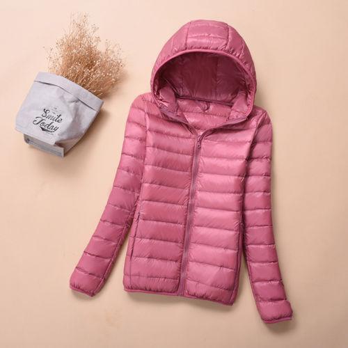 Women/'s Packable Down Jacket Ultralight Stand Collar Coat Winter Hoodie Puffer