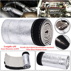 Heat-Shield-Thermal-Sleeve-Insulation-Wire-Hose-Cover-2m-Dia-20mm-For-Fuel-Lines