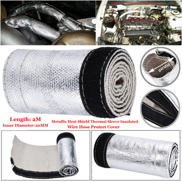 Heat Shield Thermal Sleeve Insulation Wire Hose Cover 2m Dia 20mm For Fuel Lines