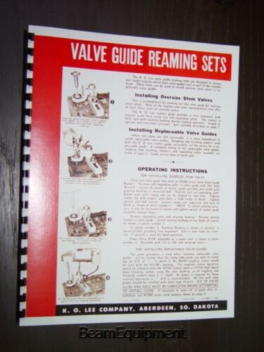 KO Lee Model H300 Valve Guide Installer Manual