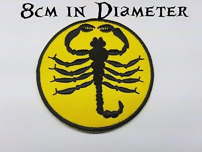 Patch patches embroidered iron on backpack scorpion racing scorpio motorcycle r2