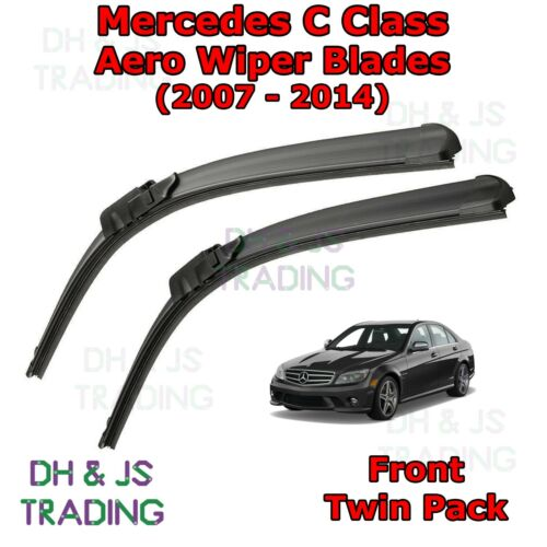 07-14 Front Flat Wipers Merc C-Class Mercedes Benz C Class Aero Wiper Blades