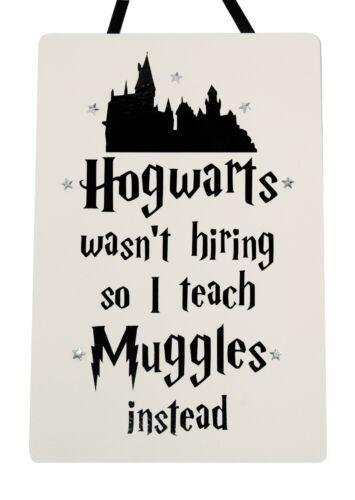Hogwarts wasn/'t Hiring Teacher Handmade wooden Plaque Harry Potter