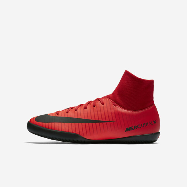 1e49f43e20c Nike Mercurial Victory VI DF Indoor Court Soccer Shoes - Red Black 903613 -616