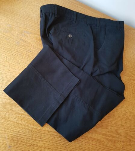Slim Fit New Men/'s Size 38 Regular Black Cotton Stretch Tapered Casual Chinos