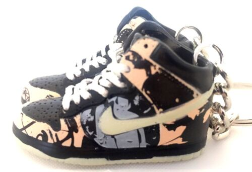 AIR DUNK HIGH HI PRO SB UNKLE PINK STUSSY KEYCHAIN 3D SNEAKER SHOES FIGURE 1:6