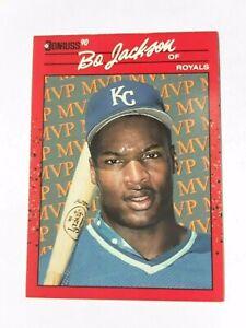 RARE!! Vintage 1990 Bo Jackson of Royals Donruss BC-1 Baseball Card MLB Old