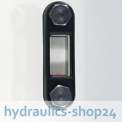 Hydraulik Ölschauglas Ölstandsanzeige Lochabstand 254 mm mit Thermometer