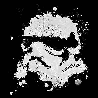 STAR WARS Stormtrooper Ink Splash Men's T-SHIRT yoda r2d2 darth vader tee S-XL