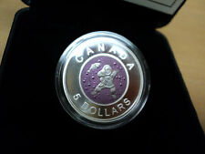 2013 Canada $5 Dollar Mother and Baby Fishing Niobium and Silver Coin