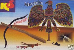 Adlerschießen Armbrust Bogen Vogelschießen Pfeile Pfeil DDR NEU