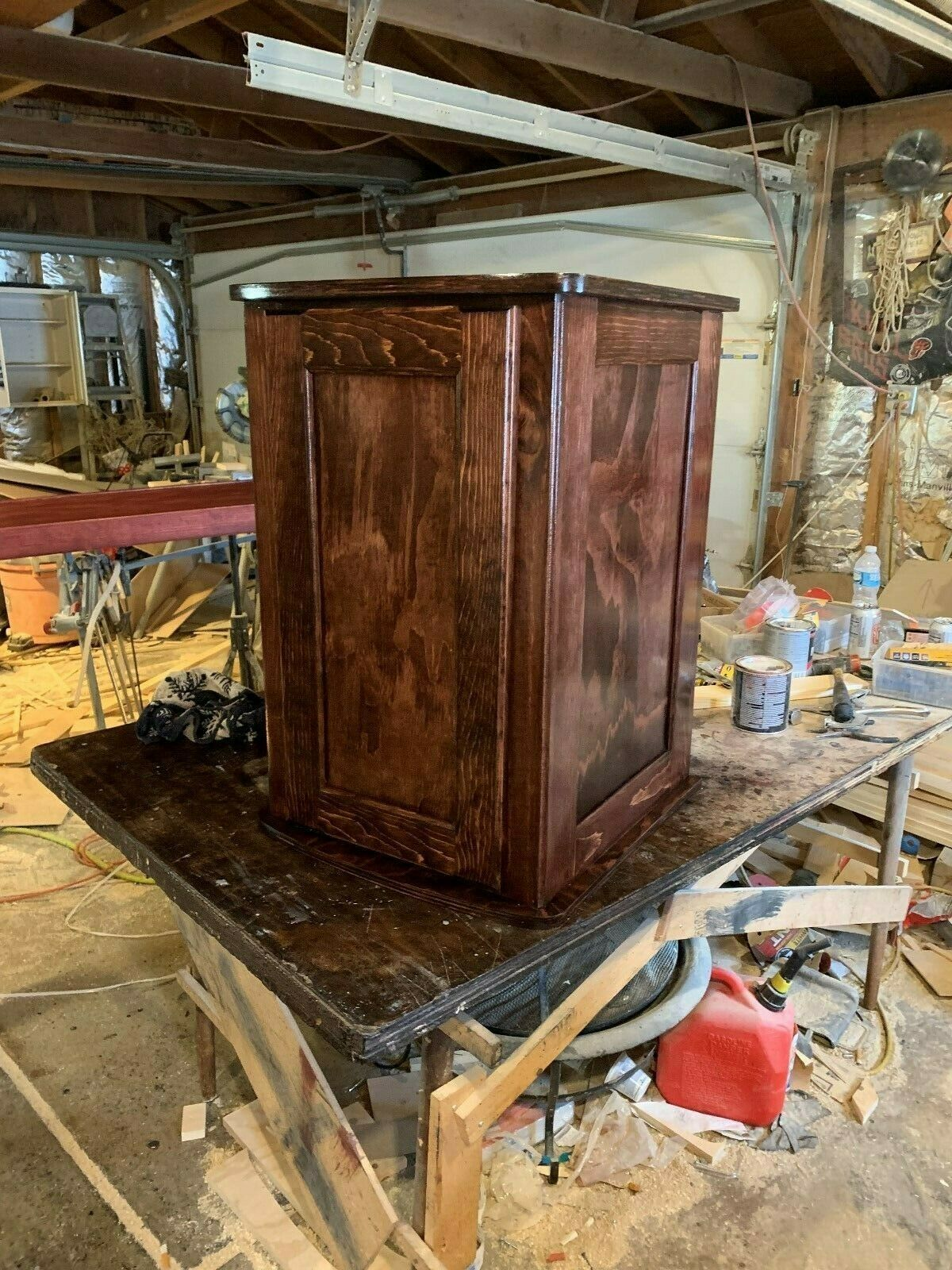 29 32 gallon bio cube stand red oak stain with extras please look at photos