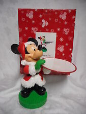 RARE Disney MICKEY MOUSE SANTA Serving Tray Plate Retired BIG FIG Statue Figure