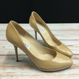 Lyst - ASOS Aldo Frited Nude Patent Court Shoes in Natural