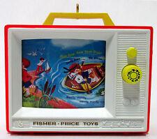 Hallmark 2012 Fisher Price Two Tune TV Keepsake Christmas Ornament w/ Sound