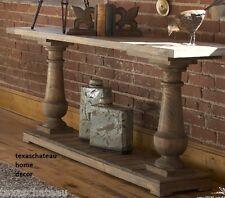 COASTAL BEACH HOUSE ~ SALVAGED DRIFTWOOD STYLE WOOD SOFA TABLE ~ ENTRY COTTAGE