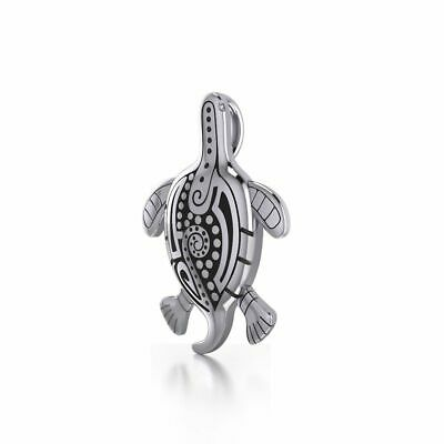 Sea Turtle .925 Sterling Silver Pendant by Peter Stone