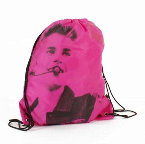 Hot Pink Justin Bieber Drawstring Gym Swimming Kit Bag Ideal Gift