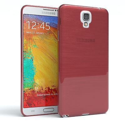 Schutz Hülle für Samsung Galaxy Note 3 Neo Brushed Cover Handy Case Rosa