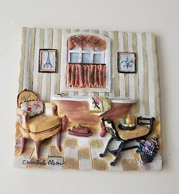 Charlene C Winterle Olson 3d Bathroom Ceramic Tile Wall Art Plaque Hangings Ebay