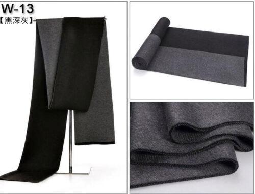 Men/'s winter scarf grid striped cotton neckerchief plaid soft skin-friendly warm