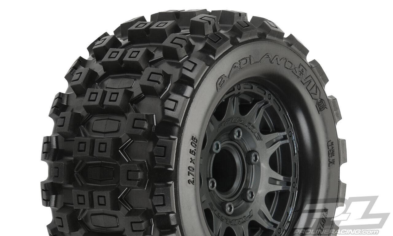 Pro-Line Badlands MX28 2.8  Pre-Mounted Tires w Raid 6x30 Wheels w Removable Hex
