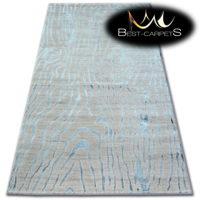 muy suave lana & Acrílico Alfombras Azul
