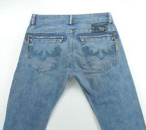 DIESEL-FARCO-84H-Straight-Leg-Distressed-men-039-s-jeans-size-31-inseam-34