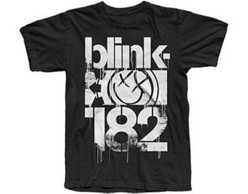 Blink 182-3 Bars Official Men/'s Black T-Shirt US IMPORT