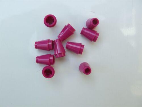 10 X LEGO Brillante Rossastro Violet OGIVA piccolo 1x1-6003007 parti e pezzi