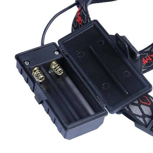 Super Hell stirnlampe T6 CREE LED Kopflampe FACKEL USB Taschenlampe 2x Akku DE