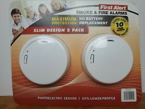 First-Alert-Slim-Photoelectric-Smoke-Alarm-with-10-Year-Battery-Pack-of-2