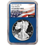2019-W Proof $1 American Silver Eagle NGC PF70UC Flag ER Label Blue Core