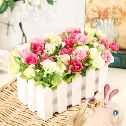 21Heads Silk Rose Artificial Flowers Fake Bouquet Buch Wedding Home Decor ,*l