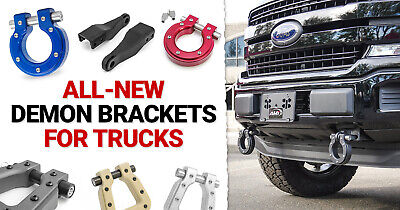 fits 2007-2020 Tundra OEM Converts D-Ring Kit RS146 Rough Country Tow Hook Shackle Mount Kit