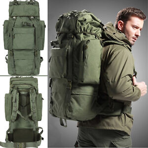 80L Internal Frame Travel Hiking Trekking Camping Hunting Backpack ...