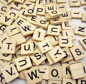 100 wooden scrabble tiles black letters for crafts wood alphabets