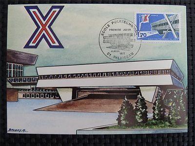 Arbeitswelt-branchen France Mk 1977 Polytechnik Polytechnic Maximumkarte Carte Maximum Card Mc C1432 Einen Einzigartigen Nationalen Stil Haben