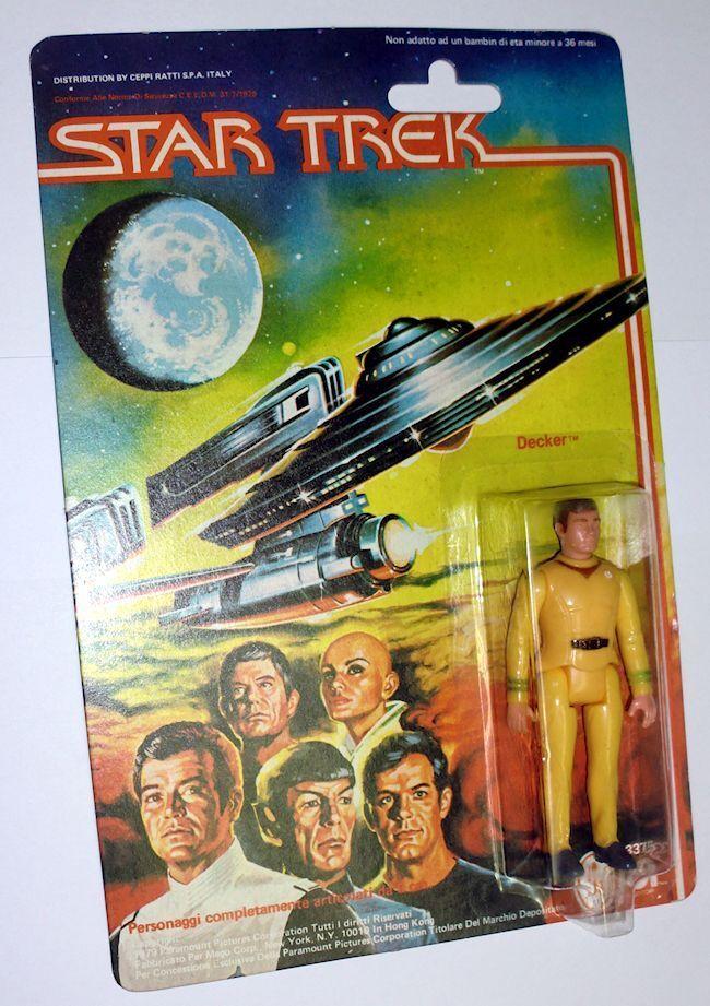 Vintage Mego Star Trek Decker New in Blister Mint Moc New