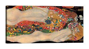 QUADRO-GUSTAV-KLIMT-Sea-Serpents-Stampa-su-tela-Canvas-effetto-dipinto