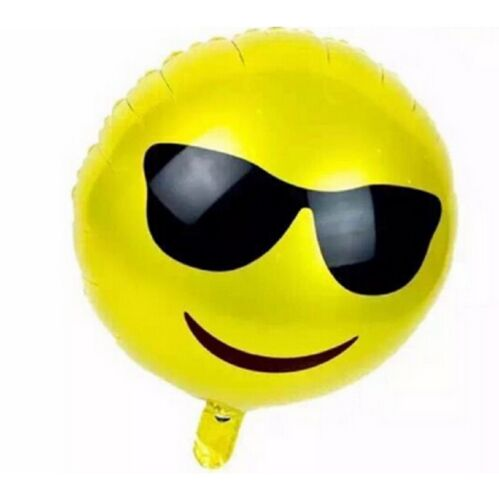18'' Foil Emoji Face Balloons Helium Party Decoration Toy Birthday Heart Kids UK