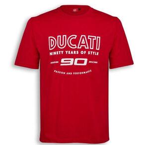 DUCATI-Graphic-T-Shirt-Anniversary-90-Jahre-Ducati-rot-limitiert-NEU-2017