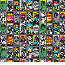 """NEW Camelot Marvel III Comic Book Heroes Iron 100% cotton 44"""" Fabric by the yard"""