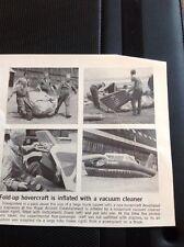 63-6 Ephemera 1968 Article Royal Aircraft Establishment Fold Away Hovercraft