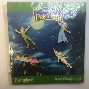Walt-Disney-039-s-Peter-Pan-4-Pin-Booster-Collection-Wendy-Michael-Disney-Pin-60199