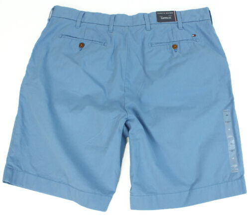 NEW MENS TOMMY HILFIGER CLASSIC FIT FLAT FRONT COTTON CASUAL CHINO SHORTS