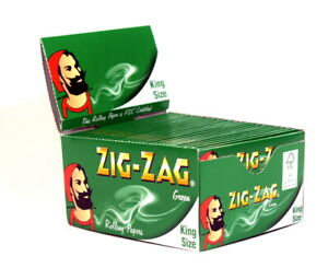 1-2-5-10-20-Zigzag-Green-Kingsize-Rolling-Papers-Fast-Free-Delivery-zig-zag
