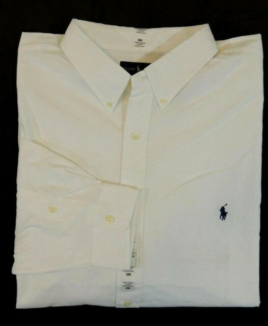 Men Ralph Lauren Polo Pony Classic Fit Long Sleeves Striped Dress Shirt Big Tall