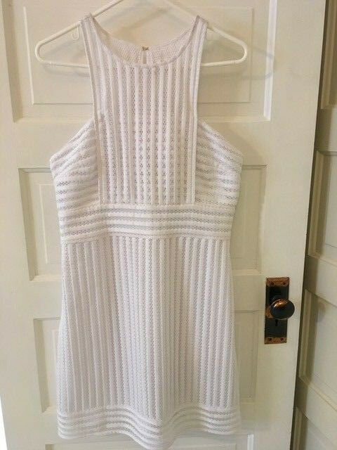 NWT Lilly Pulitzer Rae Shift Crochet Knit Dress Size Large in Resort White