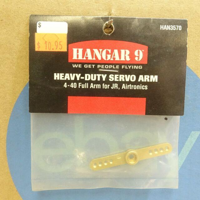 Hangar 9 Aluminum 3D XL Full Servo Arm 4-40 for JR Servos HAN3576